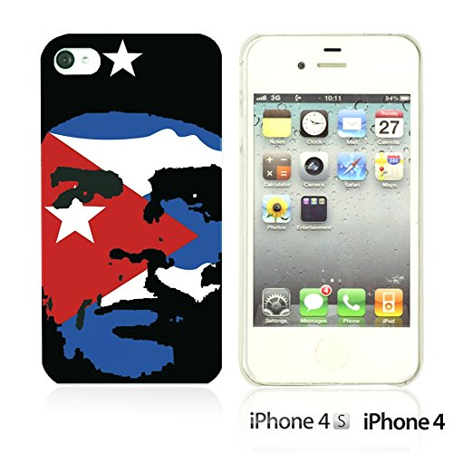 OBiDi - Celebrity Star Hard Back Case / Housse pour Apple iPhone 4S / Apple iPhone 4 - Che Guevara Che Guevara with Flag