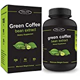 Sinew Nutrition Green Coffee Beans Extract 700 mg (90 Pure Veg Capsules), 100% Pure & Natural Weight Management & Appetite Suppressant Supplement