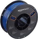 AmazonBasics - PETG 3D-Drucker Filament, 1,75 mm, Multipaket mit 5 Farben, 1 kg Spule, Blau