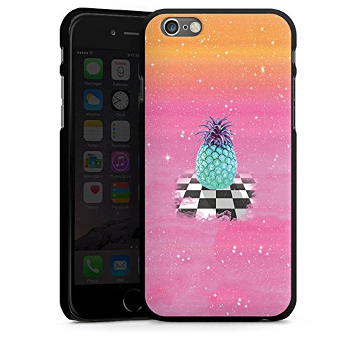 Apple iPhone 4 Housse Étui Silicone Coque Protection Grand ananas Ananas Galaxie CasDur noir