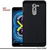 Hello Zone Exclusive Premium Quality Dotted Matte Finish Soft Rubberised Back Case Cover For Honor 6X-Black - Black