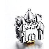 Disney–Castillo de princesas Plata Pandora Chamilia etc Pendientes Charms Pulseras Collares
