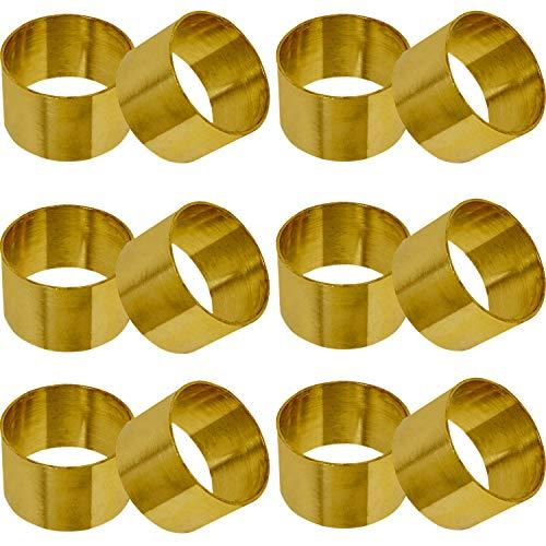 SKAVIJ Snr-002-G12 Gold Serviettenringe Metall Dekoration für Esstisch (12 stück) - Art-deco-messing-tisch