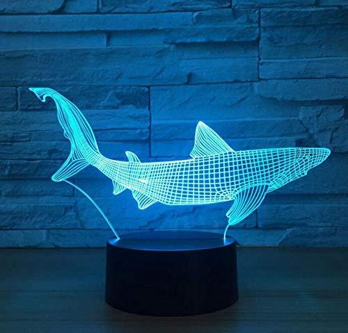 Kronleuchter E27 Vintage Light Wandleuchte Led Lichtshark 3D Led Angeln Werkzeuge In Fisch Tischlampe Home Decor Party 7 Farben Ändern Nachtlicht Nacht Schlaf Dekor Licht
