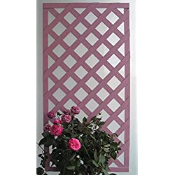 Set de 2 Celosías MADERA COMPOSITE rosa antiguo 50x100 cm. Marca: B Cottage Decor.