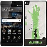 Funda carcasa para Huawei P8 Lite diseño the walking dead 2 borde negro
