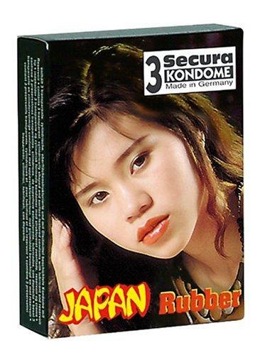 Orion 415057 Secura Japan Rubber 3er Set mit Rillen, Mikrofein gerilltes Kondom in anatomisch enger Passform.