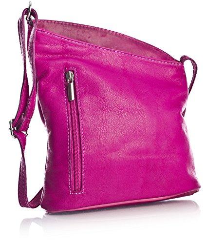 Big Handbag Shop, Borsa a tracolla donna One Rosa (Magenta Pink)
