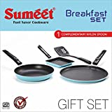 Sumeet Breakfast Set (Dosa Tawa: 10 IN, Tapper Pan: 0.5 Liter, Sandwich Pan: 5 IN),Blue