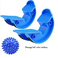 SHARESUN Foot rocking chair - calf, ankle and foot Rocker, Increase flexibility, mobility and range for plantar fasciitis, Achilles tendinitis and calf,Blue,M