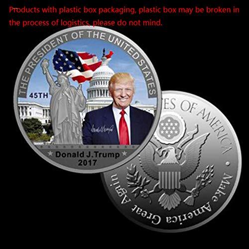 CoralStore 1PCS Münze Obama Donald Trump Hillary Michael Jackson Die Freiheitsstatue Metall Münze Kollektion Meise -