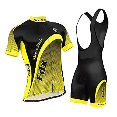 FDX Mens Cycling Jersey Half Sleeve Top Racing Team Biking