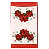 M&F-Beautiful-Microfibre-Printed-Non-Stick-Oil-Kitchen-Dishcloth-Soft-Water-Absorption-Scouring-Pad(Red-Flower-2)