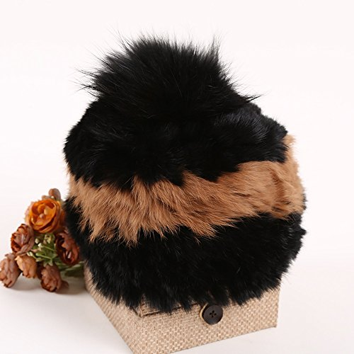 Automne et hiver chapeau en laine, Mme Thicker Mode chapeau mignon tricoté Chapeau chaud ( couleur : 3 ) 2