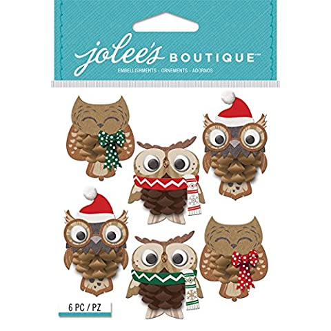 Jolee's Boutique Dimensional Stickers-Pinecone Owl