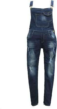 Women Casual Denim Wash Jeans Denim Pants Overall Ladies Jumpsuit