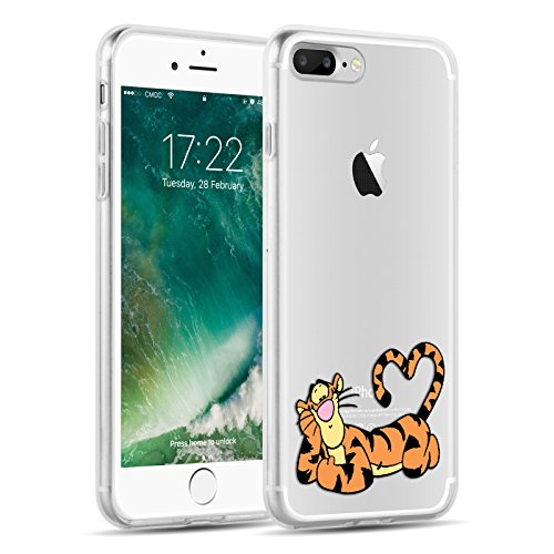iPhone 8, iPhone 7 Hülle | JAMMYLIZARD Transparente Schutzhülle Sketch Back Cover Case aus Silikon, Mario Brüder TIGER