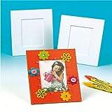 Baker Ross Grands cadres photo à décorer (Lot de 5) - Matériel créatif pour enfants et adultes