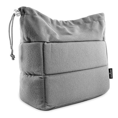 NICESTILE Fototascheneinsatz - Polstereinsatz Kamera für Rucksäcke oder Daypacks - Hochwertige innere Kameratasche mit optimaler Rundumpolsterung - Exkl. Rucksack - 26x12x16cm