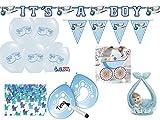 Dekoset für Babyparty 26 Teile Geburt Baby Boy Junge hellblau - Deko und Zubehör