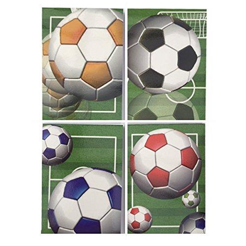 Fußball Fan, Torjäger Kids Kleine Notizbücher X 12–4verschiedene Designs. Tolle Ende des Begriff, Klasse Geschenk oder Partygeschenk (Fußball-notizblock)