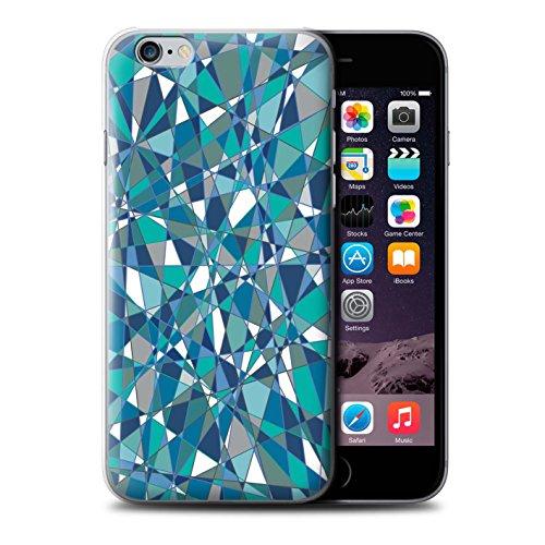Stuff4 Hülle / Case für Apple iPhone 6 / Bokeh/Funkeln/Fokus Muster / Teal Mode Kollektion Zusammenfassung Glas