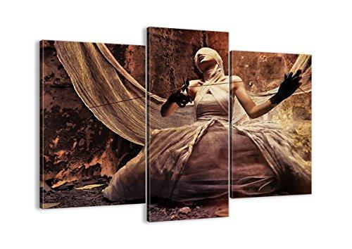 Bild auf Leinwand - Leinwandbilder - DREI Teile - Breite: 130cm, Höhe: 100cm - Bildnummer 0217 - dreiteilig - mehrteilig - zum Aufhängen bereit - Bilder - Kunstdruck - CB130x100-0217 (Halloween-kostüme Schauspielerin Film)
