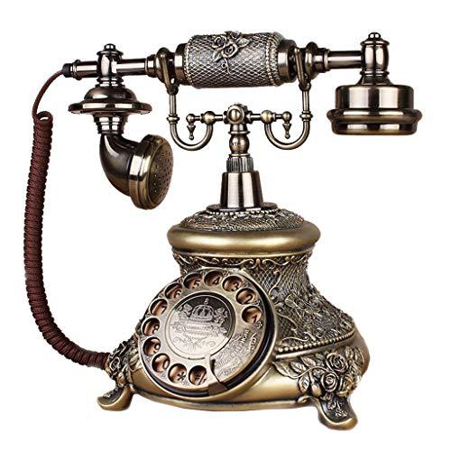 Unbekannt Liuyu · Lebendes Haus Idyllische Retro Handy Bronze Harz Metall Mechanische Doppel Ringtone Wählen Mode Kreative Europäische Home Office 18 cm * 22 cm * 26 cm