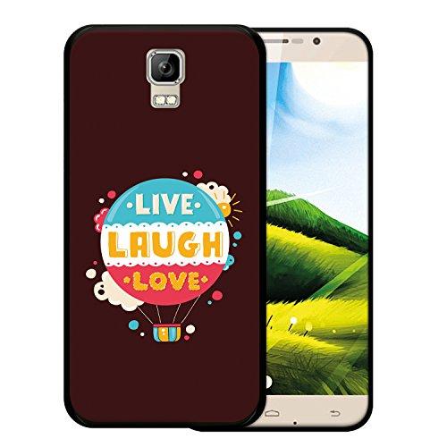 WoowCase Umi Rome Hülle, Handyhülle Silikon für [ Umi Rome ] Satz im Kugel - Live Laugh Love Handytasche Handy Cover Case Schutzhülle Flexible TPU - Schwarz