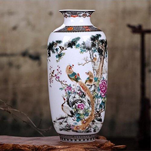 estinko Jingdezhen China Weiß Keramik Vase Vintage Chinese Vase Dekoration Innendekoration Artikel -