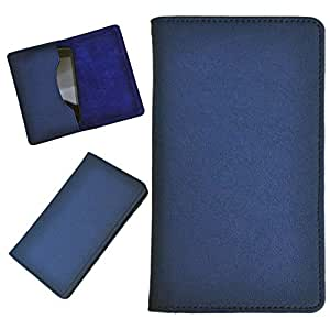 DCR Pu Leather case cover for Karbonn A26 (blue)