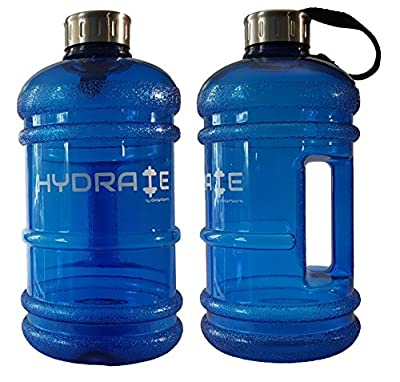 High Quality 2.2 Litre Water Bottle - Durable & Extra Strong - BPA Free, Stainless Steel Cap with Silicon Seal - Ideal for: Gym, Dieting, Bodybuilding, Outdoor Sports, Hiking & Office - 100% Satisfaction Guarantee by iGadget Sports