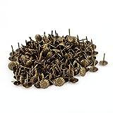 200 x 7/16-inch Dmr Chrysantheme Nagel Push Pin Polsterung Tack Nagel Bronze Ton