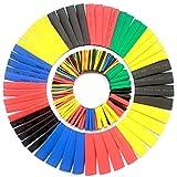 Ewparts Wärmeschrumpfschläuche 328 Pcs elektrische Isolierungs-Rohr-Hitze-Psychiaters-Verpackungs-Kabel-Hülse 8 Größen (Farbe), Ewparts
