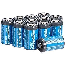 AmazonBasics Piles lithium CR2 3V, Lot de 12
