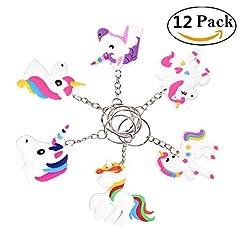 Idea Regalo - annhao Portachiavi, 12 Pezzi, Design Keychains per i Regali dei Bambini Premio e Festa per Bambini