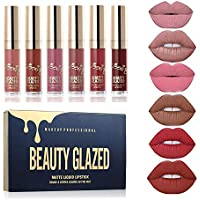Beauty Sexy 6PCS/brillo de labios mate Sexy líquido Lipstick impermeable larga duración hidratante labios profesional bálsamo maquillaje