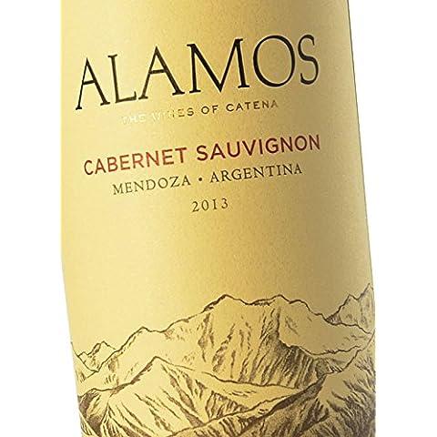 Vino Tinto Argentino Alamos Cabernet Sauvignon – Bodega Alamos, cosecha 2013 - D.O. Mendoza, Argentina – Uvas 100% Cabernet Sauvignon
