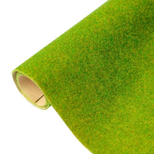 DUS Geländeteppich Modellbau Grasmatte Kunstrasen Gras Rasen Miniatur Garten Deko, 41 x 100cm (16.1 x 39.4 Zoll)