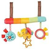 F Fityle Kinderwagenkette | Mobile-Kette mit Niedlichen Figuren Zum Aufhängen an Kinderwagen, Babyschale Oder Kinderbett | Für Babys und Kleinkinder ab 0+ Monaten - Elefant