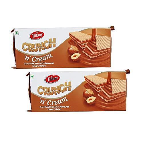 Tiffany Crunch N Cream Hazelnut Wafer, 150g (Pack of 2)