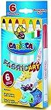 Textilstifte 6er Set - Textilmalstifte Stoffmalstifte 6 Farben im Karton-Etui