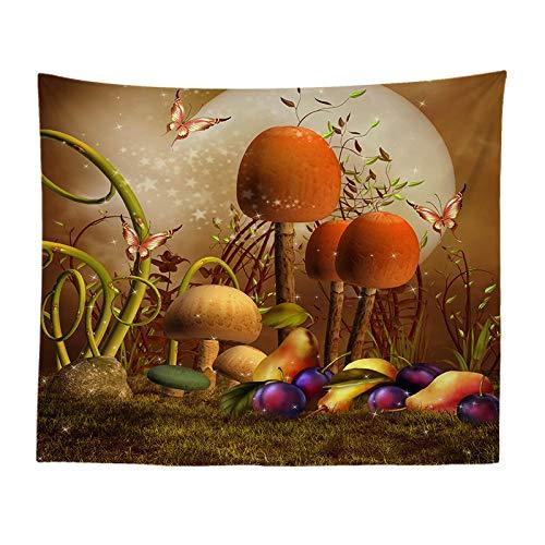jtxqe Paesaggio Serie Fantasy Cartoon Stampa arazzo Soggiorno murale Decorazione Studio Panno Muro di Fondo 891 130-150