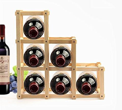 BLISS UK - Foldable Wooden Wine Rack Tabletop Organizer Display