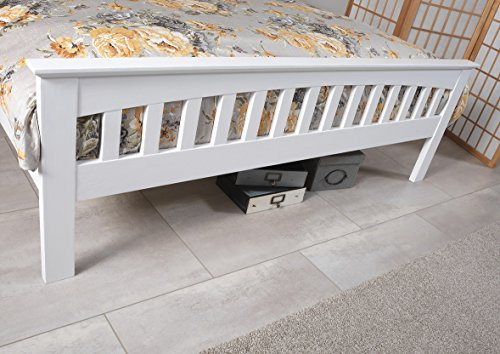 Save On Goods UK Shaker style,solid hardwood white finish wood wooden bed frame bed stead. 3ft Single, 4ft small, 4ft6 double,5ft King, 6ft Super King (6ft Super king)