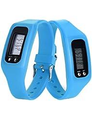 Contadores de calorías Sannysis - Pulsera de actividad con pulsómetro (Azul)