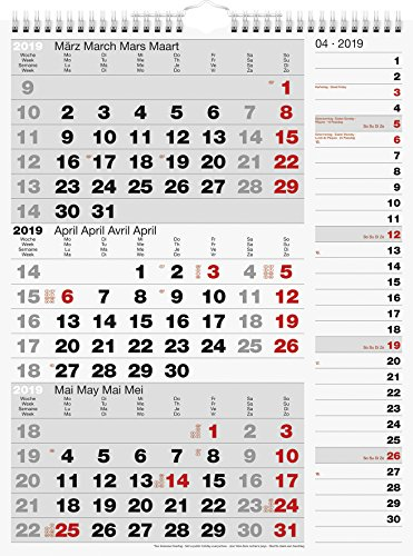 rido Dreimonatskalender 2019 Kombi-Planer 3