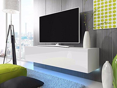 TV-Schrank Lowboard Hängeboard SIMPLE mit LED Blau