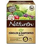 Naturen Zünsler und Raupenfrei XenTari, Hoch wirksames biologisches Präparat zur Bekämpfung von Buchsbaumzünsler an Buchsbäumen und Schadraupen an Zierpflanzen, Obst, Gemüse, 8 x 2,5 g Portionsbeutel