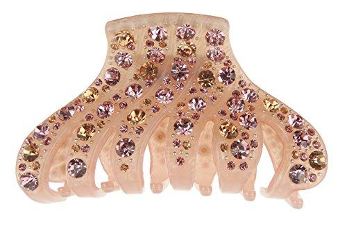 Damen Luxus 9cm mit Kristall Haar Haarkralle Streifen